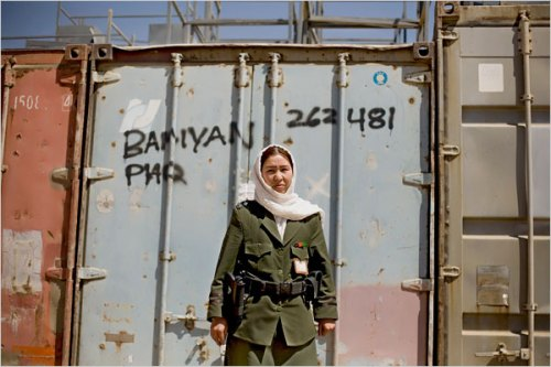 Second Lt. Nahida Rezai, 25, was the first woman to join Bamiyan Police.